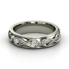 Infinite Love Ring, Sterling Silver Ring with Diamond from Gemvara
