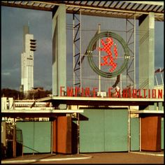 Entrance to Glasgow Empire Exhibition Bellahouston Park. My Grandad helped build the tower. Paisley Scotland, Take The High Road, Glasgow Scotland, Cumbria, Best Cities, Historical Photos, Old And New, Entrance, Empire