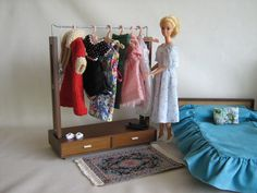 Vintage 1958 Mattel Modern Danish Clothes Wardrobe by TheToyBox