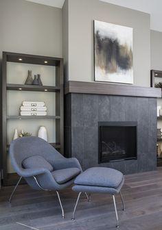 Modern living room at The Ridge in Nanaimo, BC.