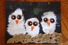 "CRAFTY THINGS: ""Owl Babies"" Craft~ lots of other great kids crafts, too"