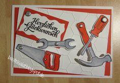 Geburtstagskarte mit bewegbaren Werkzeugen mit dem Produktset Hammer! von Stampin' Up!