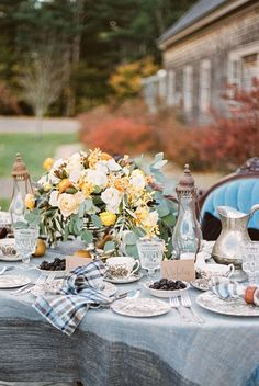 Autumn hued outdoor table decor: http://www.stylemepretty.com/little-black-book-blog/2015/11/26/autumn-equestrian-wedding-inspiration/ | Photography: Justina Bilodeau - http://justinabilodeauphotography.com/