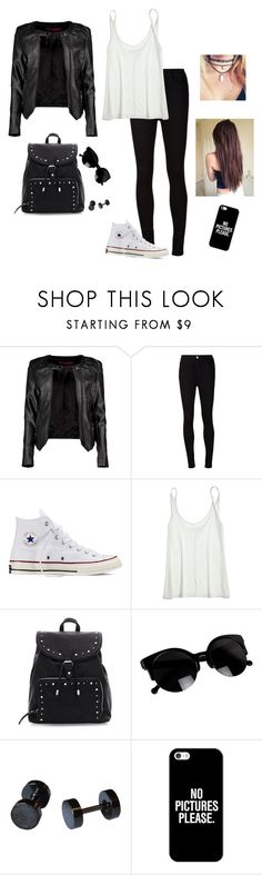 A Very Edgy Meet Up by hanakdudley on Polyvore featuring Calypso St. Barth, Boohoo, AG Adriano Goldschmied, Converse, Casetify and Retrò