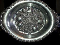 Gorham Pewter Platter Large Fruit Design