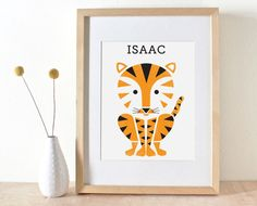 Personalized modern animal print for kid's rooms