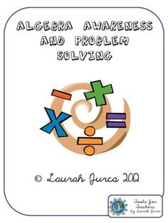 Algebra Awareness and Problem Solving Pack- Aligned with CCSS for Operations & Algebraic Thinking in Grades 3-6. $5.00