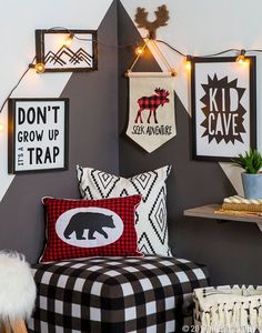 Couple fun patterns with woodland decor for a kid cave that really pops! 22 Outstanding Modern Decor Ideas You Will Definitely Want To Save – Couple fun patterns with woodland decor for a kid cave that really pops! Woodland Room, Woodland Decor, Woodland Party, Boys Room Decor, Kids Bedroom, Bedroom Ideas, Boys Hunting Bedroom, Bedroom Designs, Nursery Ideas