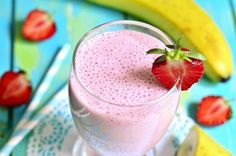 Easy, delicious and healthy Strawberry Banana Orange Julius recipe from SparkRecipes. See our top-rated recipes for Strawberry Banana Orange Julius. Smoothies Banane, Healthy Dinner Recipes, Healthy Snacks, Strawberry Banana Smoothie, Healthy Breakfast Smoothies, Smoothie Recipes, Milkshake Recipes, Favorite Recipes, Honey