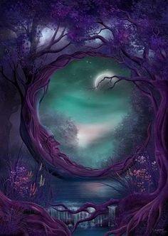 The Purple Halfmoon Tree