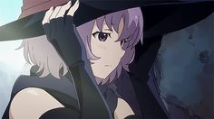 Shihoru from Hai to Gensou no Grimgar is the most magical dandere girl in anime! Witch Gif, Anime Witch, Anime Gifs, Manga Anime, Anime Art, Dandere Anime, Grimgar, Icons Girls, Yandere Girl