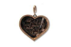 18 KARAT PINK GOLD AND DIAMOND HEART PENDANT. Diamond Heart, Dog Tags, Pink And Gold, Dog Tag Necklace, Charms, Pendants, Jewelry, Jewlery, Jewerly