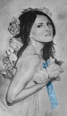 Retrato de Sharon Den Adele cantante de Whiting tentation . por Nieves Bosquet
