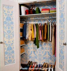 Wallpaper Crafts - Closet Wallpaper