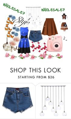 """""""Wholesale7 Blue Dress"""" by cherry0808 ❤ liked on Polyvore featuring moda, CB2 y Polaroid"""