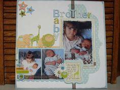 Baby Boy #scrapbook page