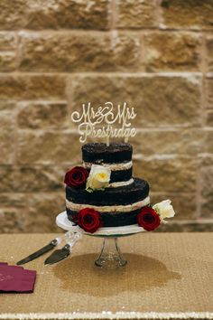 Sadie and Jonathon's 35 Guest Rustic Rural Wedding. Keely & Aaron Photographers. See more @intimateweddings.com #cake #chocolate #unfrosted #caketopper