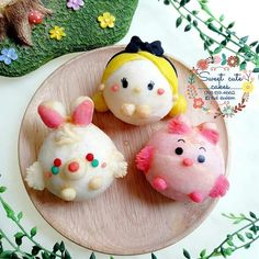 Cute Food, Good Food, Disney Food, Disney Recipes, Kawaii Cooking, Chinese New Year Cookies, Macaroon Cake, Mochi Recipe, Mochi Ice Cream