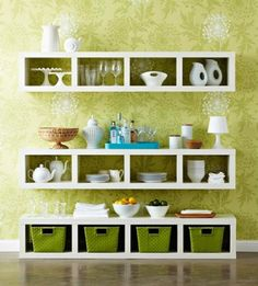 IKEA Expedit Dining Storage Styled by BHG
