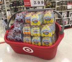 I want one of these giant Target baskets on wheels! Add some throw pillows & cushions for an awesome love seat lol