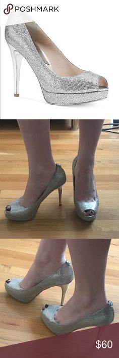 Michael Kors Sparkly Platform Heels Michael Kors Sparkly Platform Heels 4 inch heel Great condition only worn once! perfect for new years! Michael Kors Shoes Heels