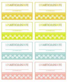 Les compartimos estas tarjetas para que los niños lleven registro de sus Artículos de Fe memorizados. Con una perforadora pueden calar cada círculo.