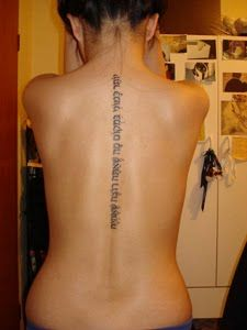 next tattoo, down my spine( not the same saying it says here), right in between my wings i have on my back, SUPPPA CAUUTE!