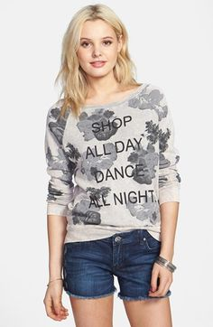 Project Social T 'Dance All Night' Floral Pullover (Juniors) available at #Nordstrom