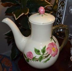 Vintage Franciscan Ware Desert Rose Coffee Pot, USA Mark, Chip #FranciscanWare