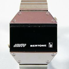 Early digital watch given out at the #Lancia Stratos Zero debut 1970. #TBT #Bertone
