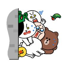 LINE Characters: High Voltage / Line Sticker Cartoon Gifs, Cute Cartoon, Cartoon Characters, Friends Gif, Line Friends, Cony Brown, Bunny And Bear, Teddy Bear, Cute Love Gif