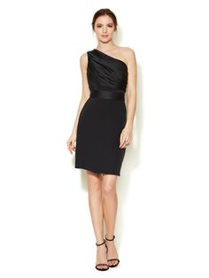 Silk Crepe One Shoulder Dress by Notte By Marchesa on Gilt.com    I never get tired of the one-shoulder look.