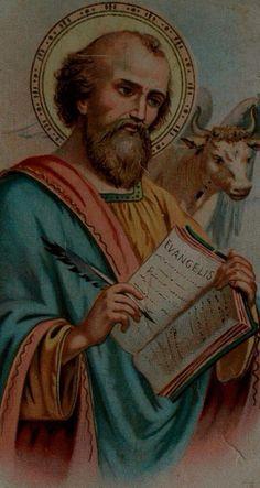 SAN LUCAS EVANGELISTA DE LOS EXCLUÍDOS Lucas Evangelista, Luke The Evangelist, Religious Images, Sacred Art, Mystic, Catholic, Saints, Artwork, Painting