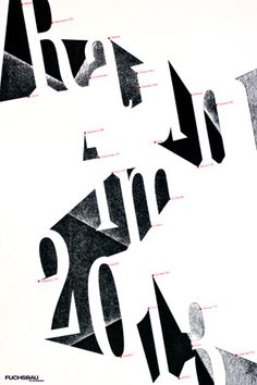Dafi Kuhne - 350 letterpress printed new years posters for some architects. Its all about new forms of spaces and the spots where they gonna build something in 2013.