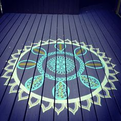 diy deck make over, painting, deck, diy, mandala, freestyle