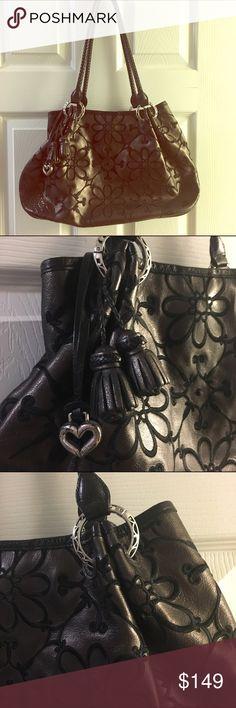Brighton Valencia handbag in Pewter Brighton Valencia handbag in pewter. Bag is registered. Gently used. Brighton Bags Shoulder Bags
