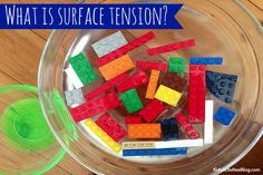 We've got a fun way to demonstrate surface tension to make it easy for kids to understand - an experiment with salt and another experiment with LEGOs!