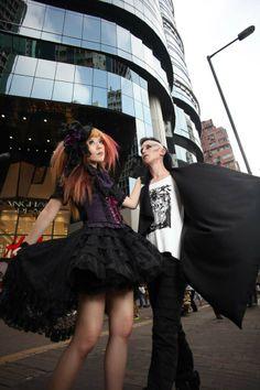 La Carmina's Hong Kong street fashion shoot, featured in Gothic Beauty Magazine. More: http://www.lacarmina.com/blog/2013/04/hong-kong-gothic-lolita-model-street-fashion-magazine/    hong kong fashion magazine, hong kong fashion blogger, chinese models, clolita models, gothic lolita dress