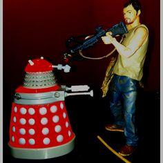 Daryl Dixon vs the Dalek. The Walking Who?