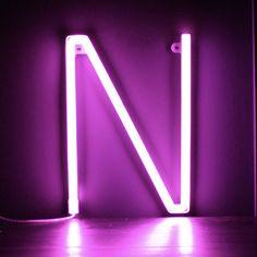 Neon Pink Light Up Letter - N
