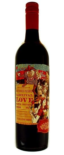 Mollydooker Carnival of Love Shiraz 2006 - sensational nose, consisting of violets, lilacs, meat, game, leather, blueberry, and chocolate, leaps from the glass