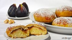 Maritozzo, Bakery products, Soft sweet bread with figs
