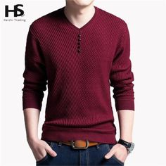 4f62beeb4e0b Details about Casual V-Neck Autumn Slim Fit Long Sleeve Sweaters