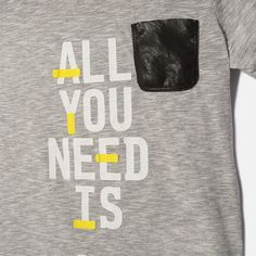 Tee-shirt gris en coton garçon IKKS | Mode WAY Garcon Eté 16 (XH10146)