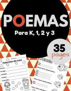 Poema y Poesia (Poems and Poetry in Spanish)Activities and worksheets for a poetry unit in Spanish. This product is in Spanish (only). This product includes simple poems for students in Spanish immersion, bilingual or Spanish language classes. Many different sheets (35 pages) for acrostic poems, sensory poems, color poems, graphic organizers, cover page for student's book, poetry in Spanish vocabulary sheet, mini-posters and much more. ___Poemas y poesa para nios en kindergarten, primero y…