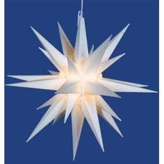 #BlackFriday @Linens_N_Things Lighted White Moravian StarItem #V491401Star uses 1 clear type E12 ...