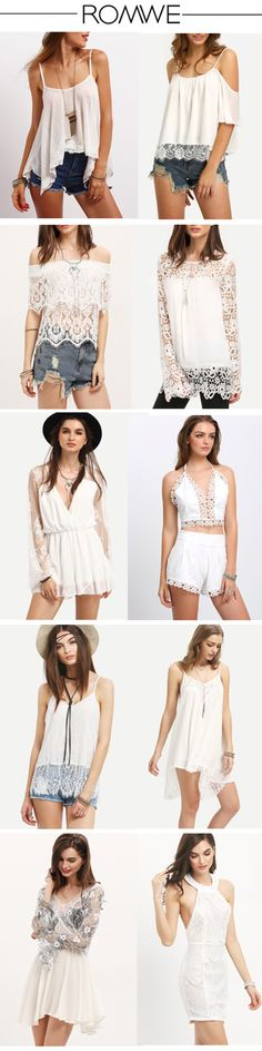 Love white, love lace. Both the most classy. White+lace produce a dreaming look for the summer. My god! I just want all of these lace dresses!