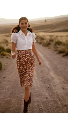 Andes Pencil Skirt from the Inca Trail Collection by Shabby Apple