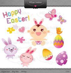 Easter's graphic set - Digital Clip Art Digital Paper