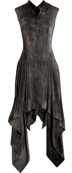 I could see wearing this, though depending upon where the lowest point in the skirt falls, it might be paired with pants or high boots for coverage.                                                                                                                                                     More